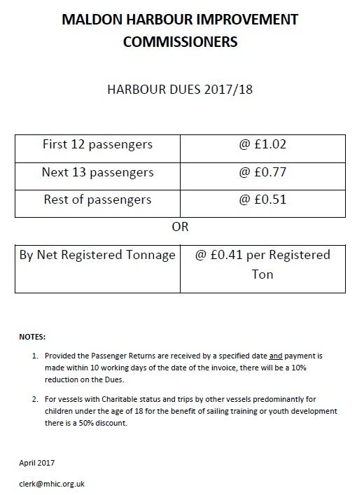 HarbourDues 2017-2018